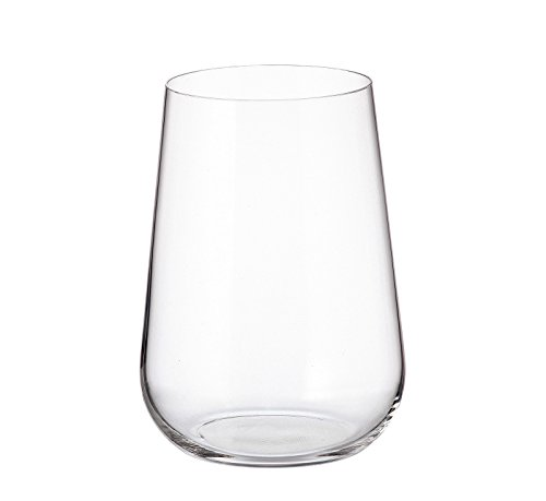 Crystalite Bohemia - Non-Leaded Crystal Wine Glasses Amundsen Stemware Collection, Set of 6 (Stemless Highball Glasses 16 Ounces (470ml))