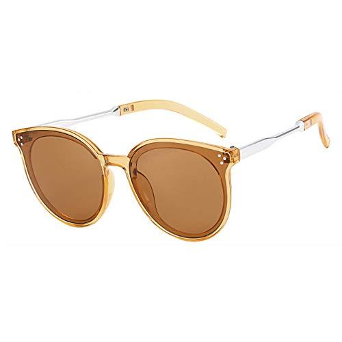 YTYASO Gafas de Sol para Mujer Gafas de Sol Redondas de Ojo de Gato de Gran tamaño para Mujer