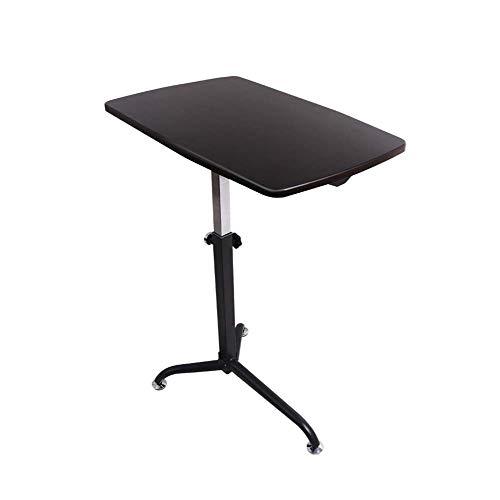 LUUDE Draagbare bureau, mobiele bedstoel, eettafel, laptopbureau met in hoogte verstelbare stand 8