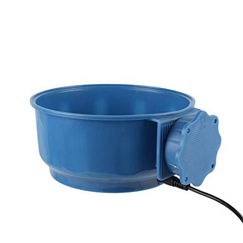 SNIIA Warmwasserbehälter, 600M USB 5V Safe Tierfutterkäfig Hängeschale Elektrisch beheizte Trinkschale mit USB-Netzkabel für Hund Katze Vogeltränke Warmwasserbehälter Warmwasserbehälter
