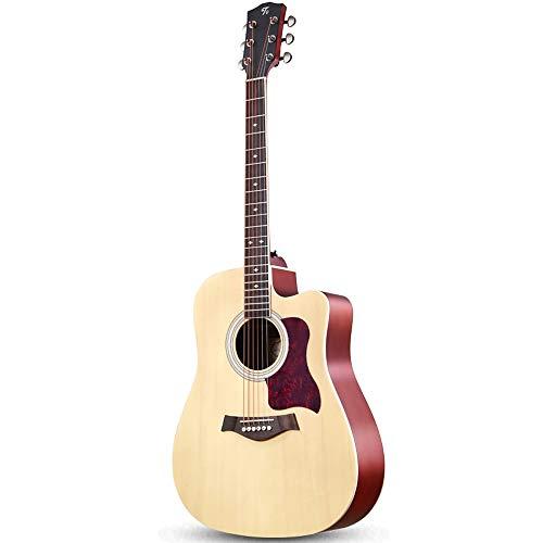 Boll-ATur Retro 41 Zoll Akustikgitarre for Männer Und Frauen Anfänger Massivholzfurnier Gitarre Professionelle Spielen Gitarre Set Tuner Plektren Gitarre Rucksack Drei Farbe Optional