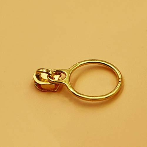 5# Zipper Repair Kits Zipper Pull Metal Zipper Slider Zipper Head DIY Clothes Bag Suitcase Accessories,Gold