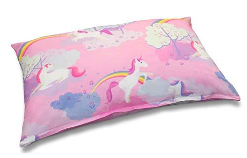 Velosso Magical Rainbow Unicorn Kids Multi Purpose Large Floor Cushion/Pillow (58cm x 85cm Floor Cushion)