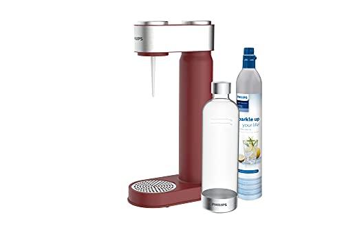 Philips Water ADD4902RD/10 GoZero Wassersprudler, plastik, 1 Liter, Rot