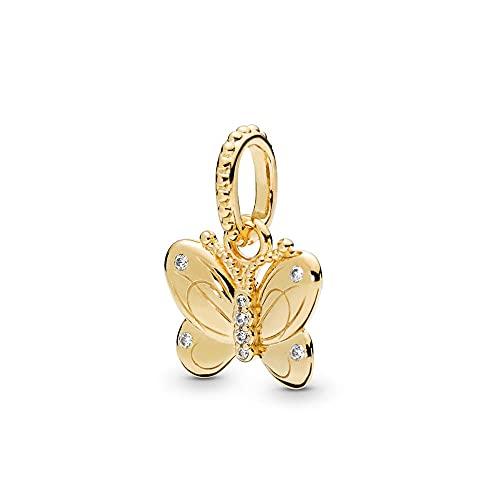 LIIHVYI Pandora Charms para Mujeres Cuentas Plata De Ley 925 Colgante Mariposa Decorativa Shine...