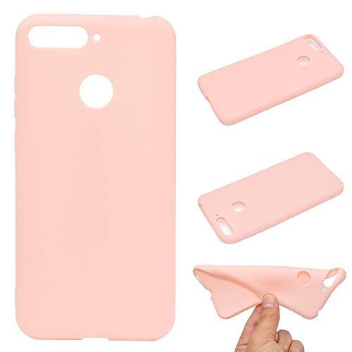 CoverKingz Handyhülle für Honor 7C / Huawei Y7 2018 - Silikon Handy Hülle Honor 7C/ Y7 2018 - Soft Hülle in matt rosa