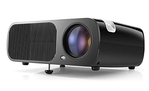 Video Projector, HD Projector for Analog TV, DVD Player, Laptop,Tablet & Smartphone, Home Cinema Projector with Max 200-Inch Display - Black