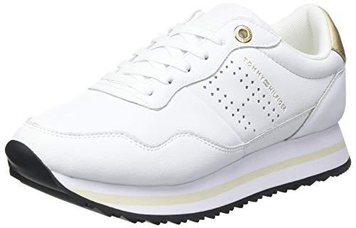 Tommy Hilfiger Damen Lifestyle Runner Sneaker, weiß, 38 EU