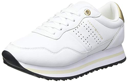 Tommy Hilfiger Lifestyle Runner Sneaker, LIVELO Mujer, Blanco, 38.5 EU