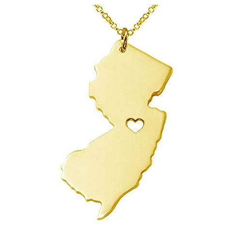 Art Attack I Love New Jersey Necklace, Garden State Heart Pendant