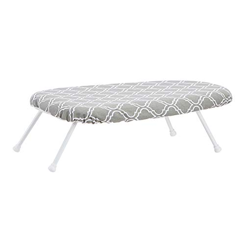 AmazonBasics Tabletop Ironing Board with Folding Legs - Trellis Removable Cover
