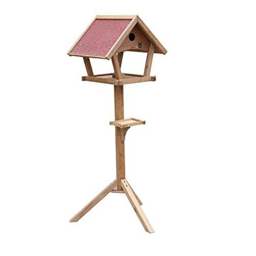 JXXDDQ Table à Oiseaux en Bois autoportante extérieure Maison Jardin Oiseaux Alimentation Maison Station décor décoration décoration Meubles