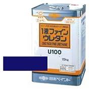 日本ペイント 1液ファインウレタンU100 シャニンブルー 15kg