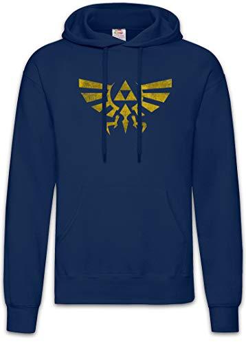 Urban Backwoods Triforce Vintage Logo Hoodie Kapuzenpullover Sweatshirt Blau Größe 2XL