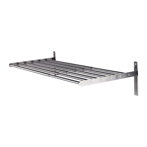IKEA GRUNDTAL - Tendedero, pared, de acero inoxidable - 67 a 120 cm