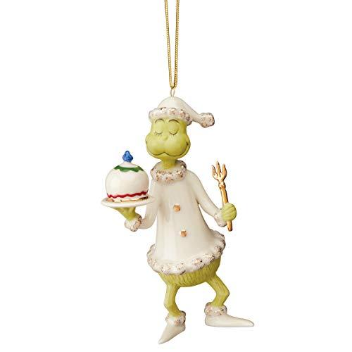 Lenox Grinch Serves The Feast Ornament, 0.30 LB, Multi
