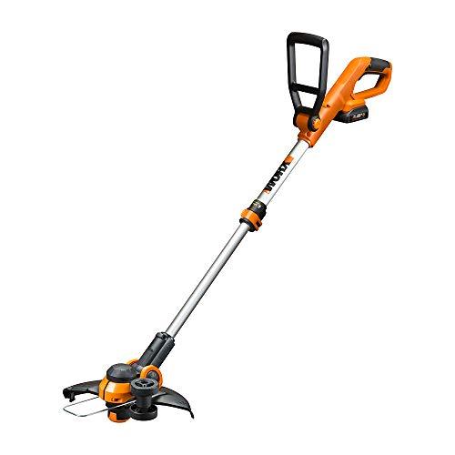 WORX WG162 20V Cordless Grass Trimmer & Edger, Black and Orange, 12 inches