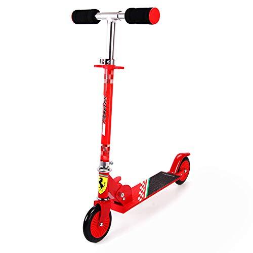 Ferrari Roller für Kinder ab 5 Jahre Cityroller Tretroller Kinderroller Scooter Kickroller Kinderskooter