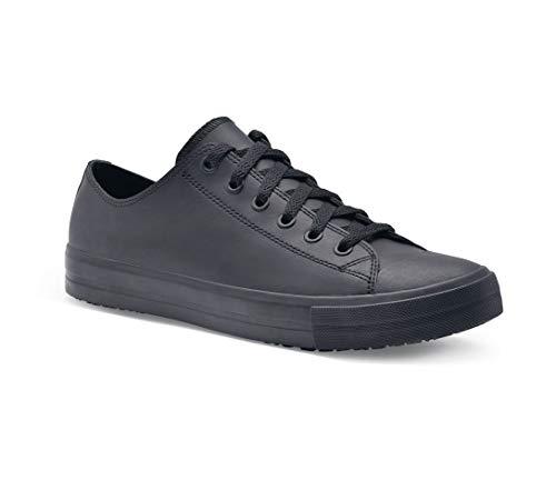 Shoes for Crews 38649 - DELRAY Scarpa da uomo in pelle antiscivolo, Nero - Certificato di sicurezza EN