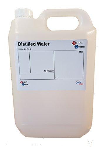 Pure Chem, tanica di acqua distillata, 5L, 1