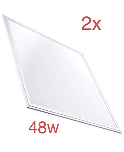 Pack 2x Panel LED 60x60 cm 48w. Color Blanco frio (6500K). 4000 Lumenes. Driver incluido. A++