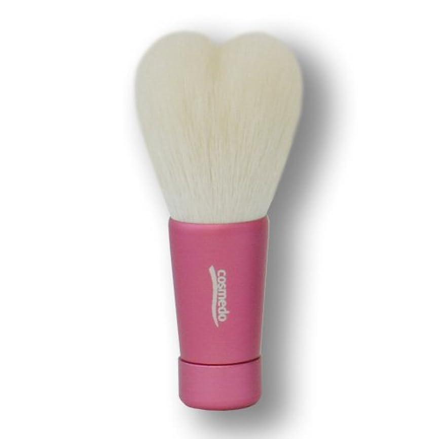 おかしい請求可能大いに匠の化粧筆コスメ堂 熊野筆 ハート型 洗顔ブラシ Mサイズ ピンク (全長80mm)