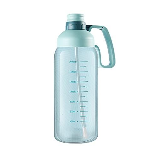 Botella de Agua, 1.8L Botella de Agua Deportes Copa Camping Gimnasio de Gran Capacidad Al Aire Libre, Sin BPA, Botellas de Agua a Prueba de Fugas para Gimnasio Botella de Agua Potable Portátil