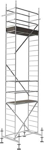 ALTEC Rollfix 700, Arbeitshöhe 7 m neu| ✓ Traverse| ✓ höhenverstellbarer Fußplatten| ✓ Wandanker| ✓ TÜV-geprüft| ✓Made in Germany, Alu Gerüst Aluminium Rollgerüst Fahrgerüst Baugerüst Zimmergerüst Arbeitsplattform Arbeitsbühne