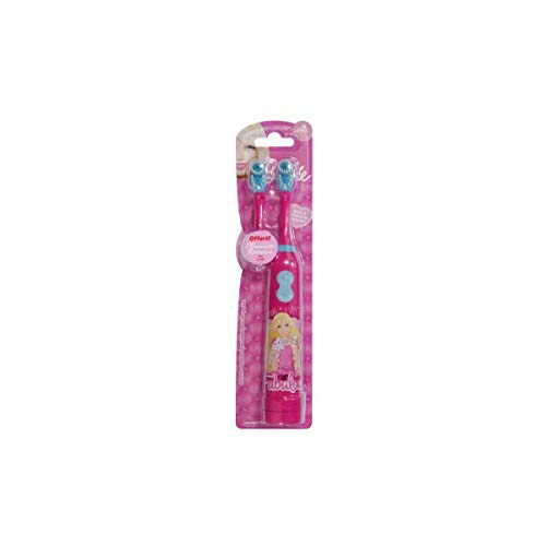 TINOKOU - Cepillo dientes eléctrico infantil diseño muñeca dibujos animados. Con cabezal...