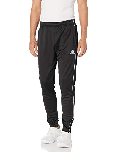 adidas Men's Core 18 Training Pants, Black/White, Medium