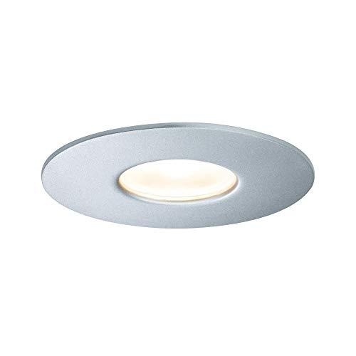 Paulmann 796.68 House Downlight 230 V inbouwlamp IP44 warmwit 5,3 W 55 ° stralingshoek 79668 Outdoor House buitenverlichting inbouwspot ultraplat dimbaar LED plafondverlichting plafondspot