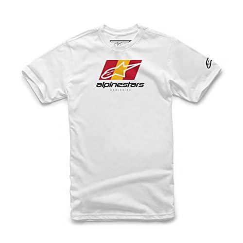 Alpinestars, World Tour, Camiseta De Manga Corta, Blanco, XL, Hombre