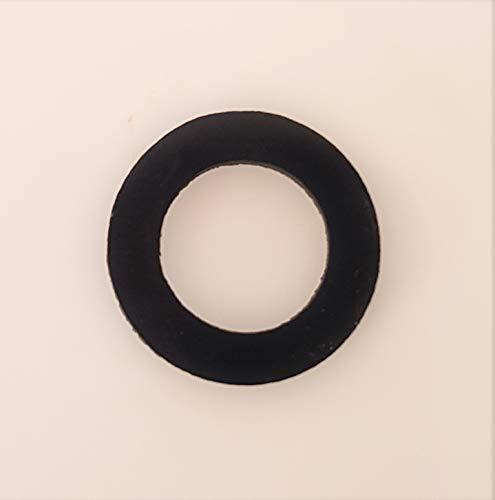 EPDM Flachdichtung Gummi-Dichtung für DUSCHSCHLAUCH - Brauseschlauch mit TRINKWASSERZULASSUNG - Größe: 1/2 Zoll (19.0 x 12.0 x 2.0mm) (1/2'') - Menge (1 bis 100 Stück) - MENGE: 1 Stück