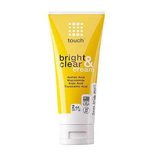 Skin Lightening & Brightening Cream for Dark Spots on Face - 10% Azelaic Acid Hyperpigmentation Treatment with Kojic Acid, Tranexamic Acid, & Niacinamide – Age Spot, Sun Spot, and Melasma Remover