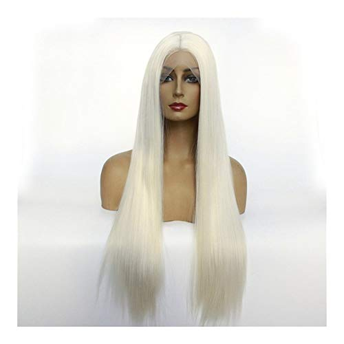 Udol Long Wave Silky Heat-Resistant Synthetic Wig Natural Look Party High-Temperature Si Leisi Half Crochet caps caps j0105 (Color : 14 inches)