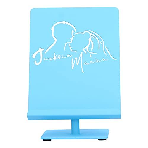 Jopwkuin Tenedor del teléfono de Escritorio, Hierro del Tenedor del teléfono móvil del hogar de los Accesorios del teléfono móvil para la Oficina(T122 Large Blue)