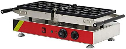 CGOLDENWALL Np-610Commercial gaufrier antiadhésif Muffin Machine à 180° Turnable Waffle Baker Belge gaufrier Réchaud - 110V