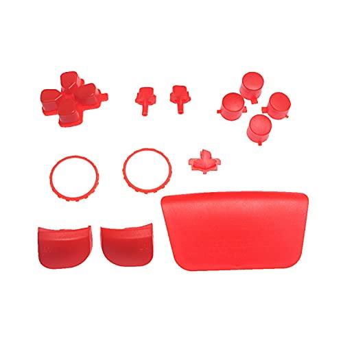 adfafw Ersatz-Gamecontroller Kit, Austausch des Gamecontrollers Key Gamepad-Tasten Für PS5 Metall Thumbsticks Griffe Kappe Joysticks Kompatibel Anwendbare PS5-Grifftasten Kreuzen First-Rate