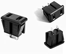 GOUWEI 10 pcs/lot USA Industrial Plug US Industrial Socket/Plug Two Flat Hole Female Socket Electrical Socket AC Power Soc...