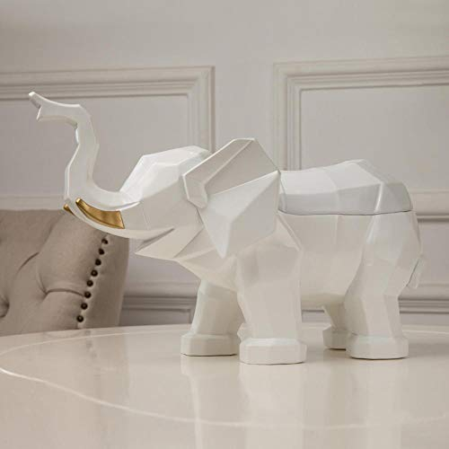 Zakdoekjesbox Nordic wind tissuebox woonkamer olifant papier pompbox eettafel pompbox ideeën wit
