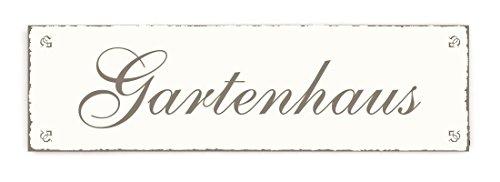 SCHILD Türschild « GARTENHAUS » Shabby Vintage Holzschild Dekoschild Dekoration Gärtner Florist Garten
