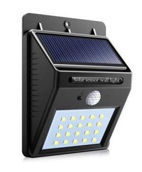Luminária Refletor Solar 20 leds com Sensor de Movimento