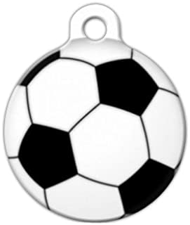 Dog Tag Art Soccer Ball Pet ID Tag for Dogs and Cats