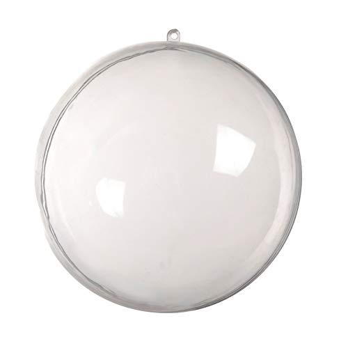 Bayda - 1 pieza de boda colgante con forma de árbol de Nool para colgar, bola transparente abierta de plástico claro, decoración de los niños, suministros de fiesta, 20 cm