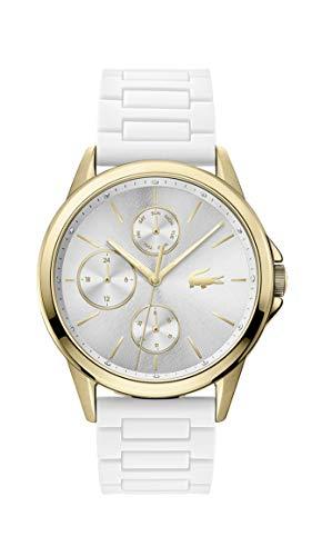 Lacoste Damen Analog Quarz Uhr mit Silikon Armband 2001111