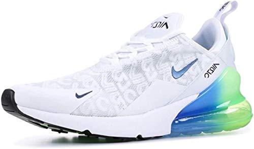 Nike Air Max 270 Se, Scarpe da Atletica Leggera Uomo, Multicolore (White/White/Lime Blast/Photo Blue 100), 43 EU