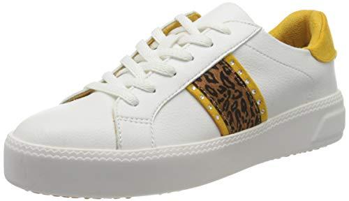 Tamaris Damen 1-1-23750-24 Sneaker, Weiß (WHT/Leopard 188), 37 EU