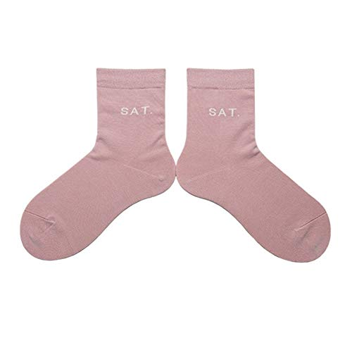 QYXJJ Socken für Männer 1 Paar-Männer Kleid Socken Baumwollsocken Klassische bequemes weiches Geschäft Kalb Socken Besatzung Sportsocken Socken für Frauen (Color : Sat)