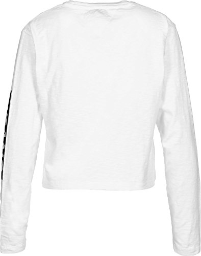 Tommy Hilfiger Floral Logo Longsleeve Camiseta, Blanco (Bright White 113), Large para Mujer