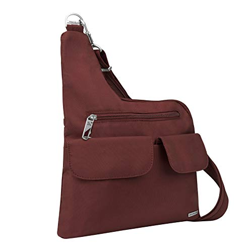 Travelon Anti-Theft Cross-Body Bag, Wine, One Size